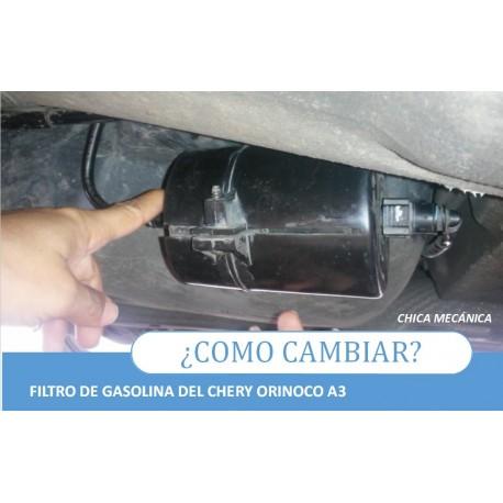 Como cambiar el filtro de gasolina Chery Orinoco A3