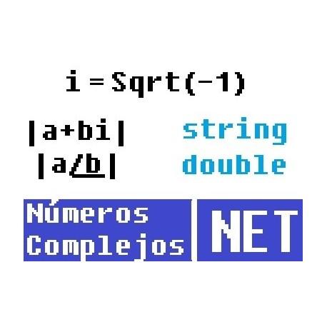 Manejar numeros complejos personalizados en NET