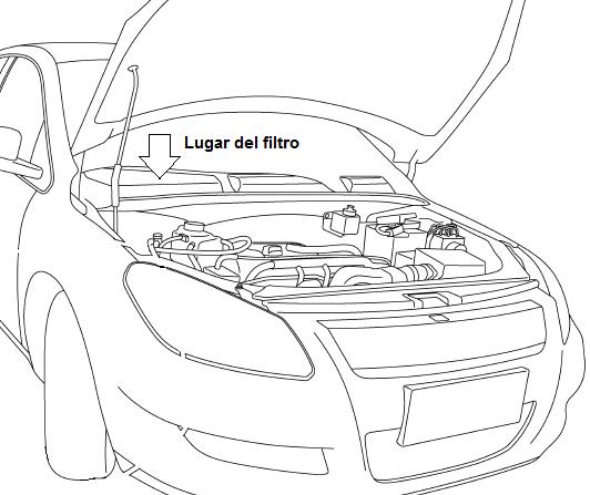 localización del filtro de aire interior chery orinoco