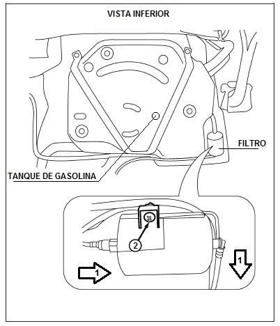 ubicacion del filtro de gasolina chery orinoco