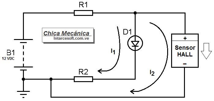 Esquema electrico probador sensor abs efecto hall de dos cables