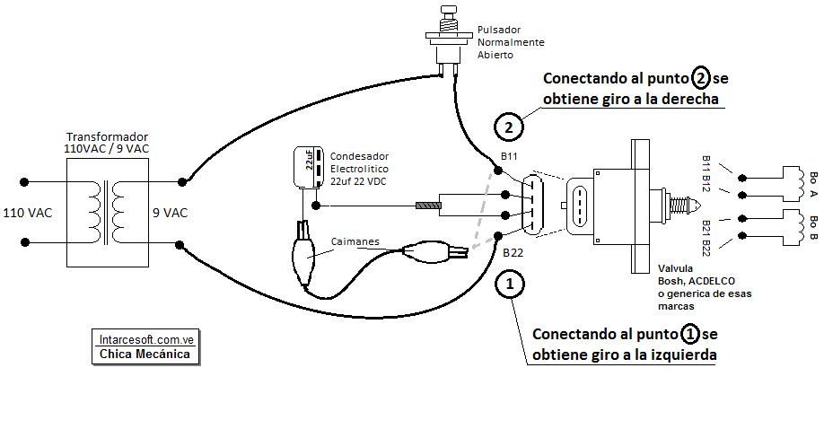 circuito valvula iac 4 cables