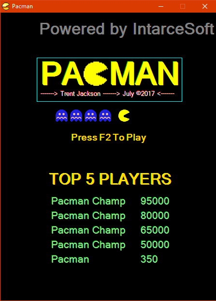 Pacman vb net winforms