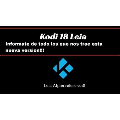 Nueva Versión de Kodi 18 Leia Alpha 2 ¡Ya Disponible!