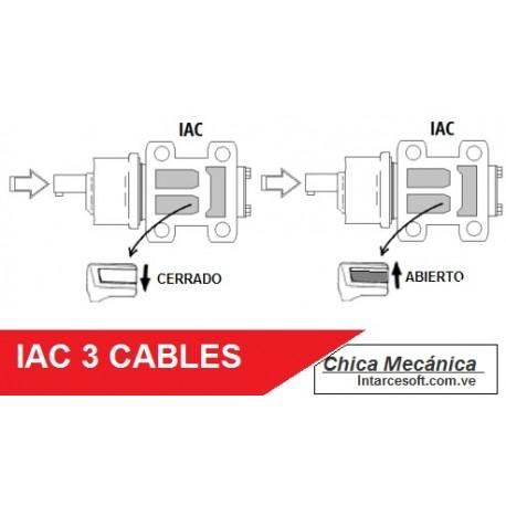 La válvula IAC de 3 cables - Funcionamiento - Pruebas - Mantenimiento