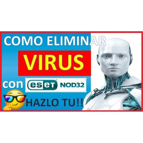 Como eliminar un virus con el antivirus eset nod32