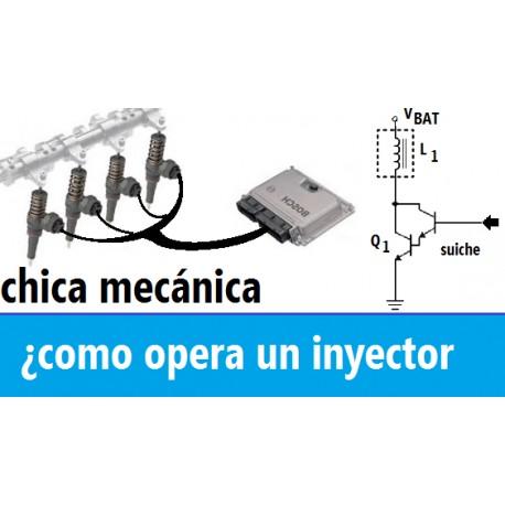 Como funciona un inyector gasolina - Circuito eléctrico