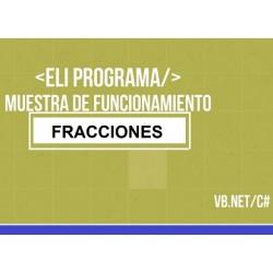 Operaciones aritméticas de fracciones en visual basic
