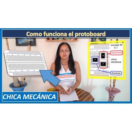 Como funciona un protoboard