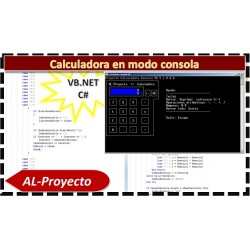 Calculadora en modo de consola en VB.NET y CS
