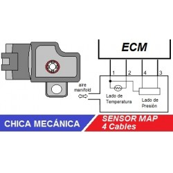 El sensor MAP de 4 cables y sus fallas