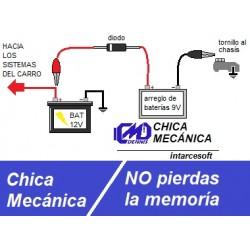 Fuente de respaldo de memoria para vehículos