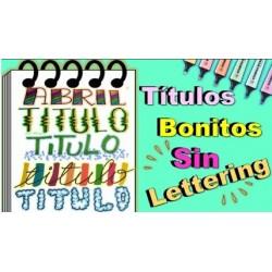 Como Hacer Titulos Bonitos Sin Lettering