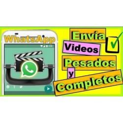Como Enviar Videos Pesados y Largos Por Whatsapp