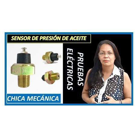 Como probar sensor presión aceite motor