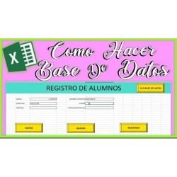 Como Hacer una Base de Datos en Excel con Buscador