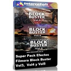 Set de Efectos Block Buster Vol3 Vol4 Vol5 Filmora
