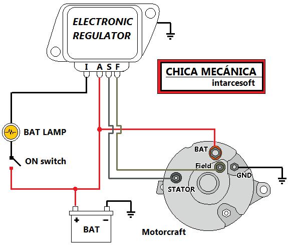 Diagrama De Regulador De Voltaje Ford
