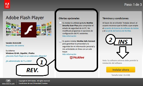 pasos para actualizar adobe flash player desde el navegador