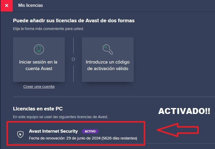 ▷ AVAST INTERNET SECURITY LICENSES [FEBRUARY 2020] UPDATED