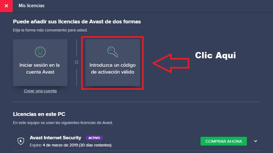 codigo de activacion avast free antivirus 2018 gratis